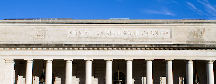 Supreme Court building of South Carolina located in Columbia SC USA